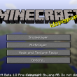 title screen (intro) w Minecraft 1.8